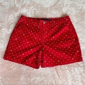Gloria Vanderbilt Star Shorts Red